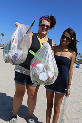 30-Minute Beach Cleanup; Long Beach, Calif.