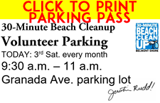 30-Minute Beach Cleanup parking pass